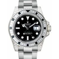 Rolex GMT Master II 116759SANR 116759 Black Sapphire Diamond 18k White Gold