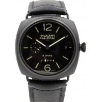 Panerai PAM 384 Radiomir 8 Days Ceramica Black Ceramic Leather Men's 45mm Leather