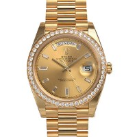Rolex President 228238-RBR Day Date 40 Yellow Gold Champagne Diamond Bezel Dial BRAND NEW 2016