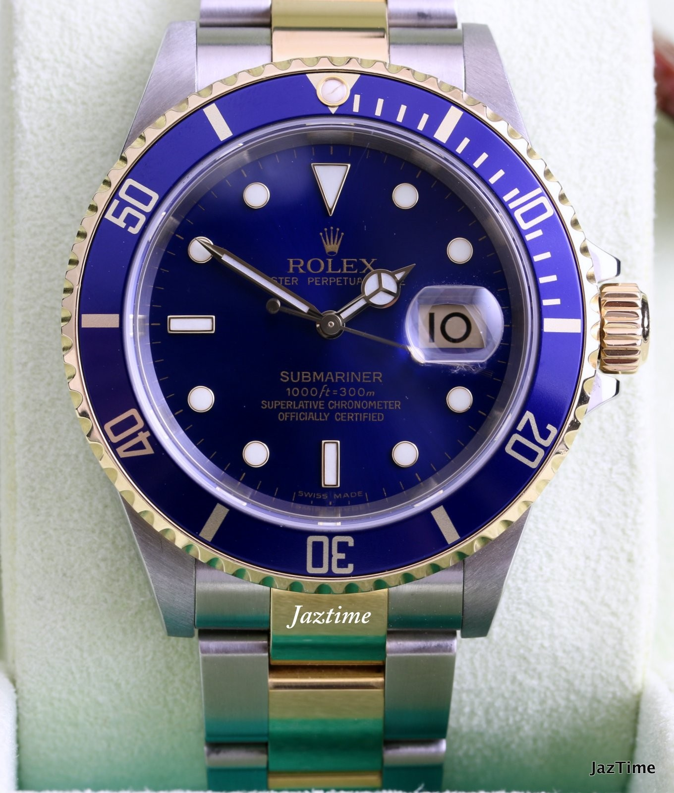 Rolex 16613 submariner blue for sale for Submariner rolex blue