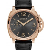 Panerai PAM 677 Luminor Due 3 Days Oro Rosso Sun-Brushed Athracite Arabic Red Gold Leather 42mm Manual BRAND NEW 2016