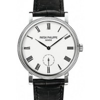 Patek Philippe 7119G-010 Calatrava Ladies 31mm Ivory Roman Hobnail White Gold Leather Manual BRAND NEW 2016