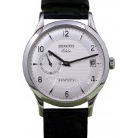 Zenith Class Elite Automatic 01.1125.680/02.C490 Men's 37mm Silver Arabic Stainless Steel BOX/PAPERS