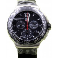 TAG Heuer Formula 1 Chronograph CAU1110.FT6024 42mm Black Index Stainless Steel Rubber BRAND NEW 2016