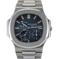 Patek Philippe Nautilus 3712/1A-001 39mm Blue Index Moon Phase Date Power Reserve Stainless Steel BRAND NEW