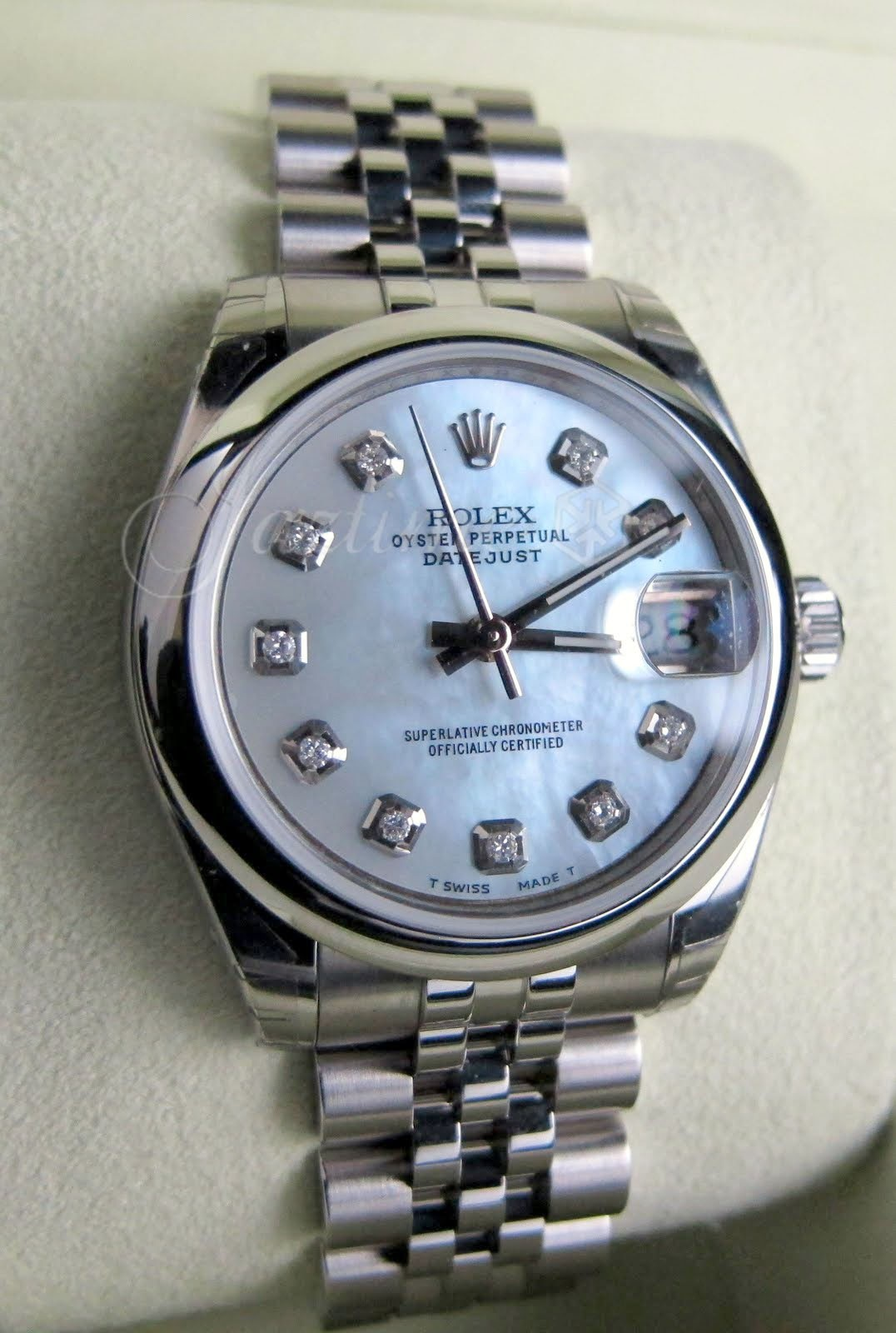 Rolex 178240 datejust lady 31 white mother of pearl for sale for Rolex date just 31