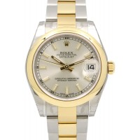 Rolex Datejust Ladies Midsize 178243 Silver Index Yellow Gold Stainless Steel Oyster 31mm BRAND NEW 2016