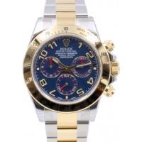 Rolex Cosmograph Daytona 116523 116523-BLUA Blue Arabic 18k Yellow Gold Stainless Steel BRAND NEW 2016