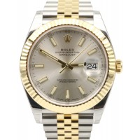 Rolex Datejust 41 126333 Silver Index Fluted Yellow Gold Stainless Steel Jubilee BRAND NEW 2016