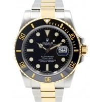 Rolex Submariner 116613 Ceramic Black 40mm 18k Yellow Gold Stainless Steel 116613LN