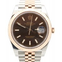 Rolex Datejust 41 126331 Chocolate Index Rose Gold Stainless Steel Jubilee BRAND NEW 2016