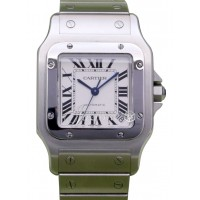 Cartier Santos Galbee XL W20098D6 Men's 45.5mm Silver Roman Stainless Steel Date BOX/PAPERS