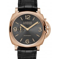 Panerai PAM 675 Luminor Due 3 Days Oro Rosso Sun-Brushed Anthracite Arabic Red Gold Leather 45mm Automatic BRAND NEW 2016