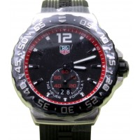 TAG Heuer Formula 1 WAU1114.FT6024 42mm Black Index Stainless Steel Rubber Date BRAND NEW 2016