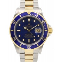 Rolex Submariner 16613 40mm Blue 18k Yellow Gold Stainless Steel