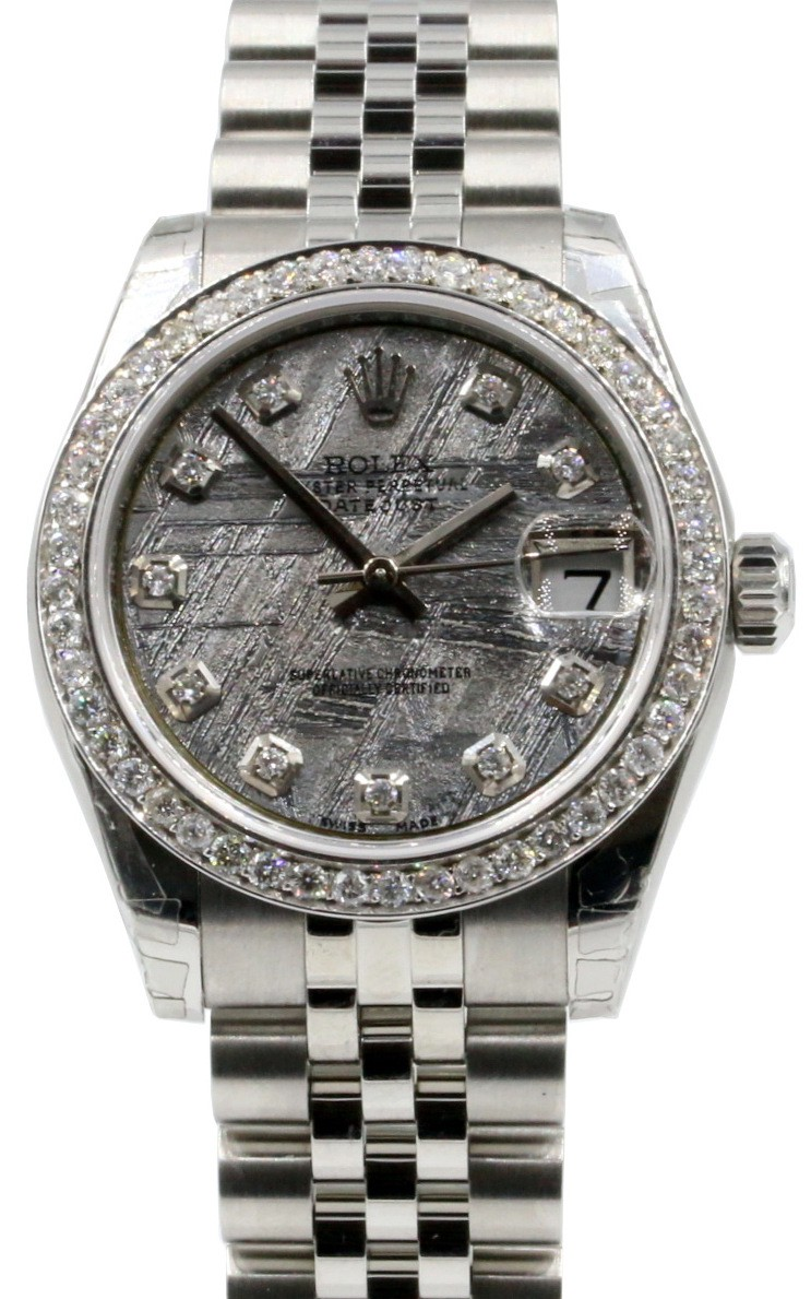 Rolex 178240 datejust lady 31 meteorite for sale for Rolex date just 31