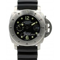 Panerai PAM 243 Luminor Submersible 1950's Case Stainless Steel 44mm Black Rubber BOX/PAPERS