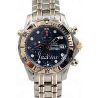 Omega Seamaster Professional Chronograph 2296.80 Blue Titanium Rose Gold