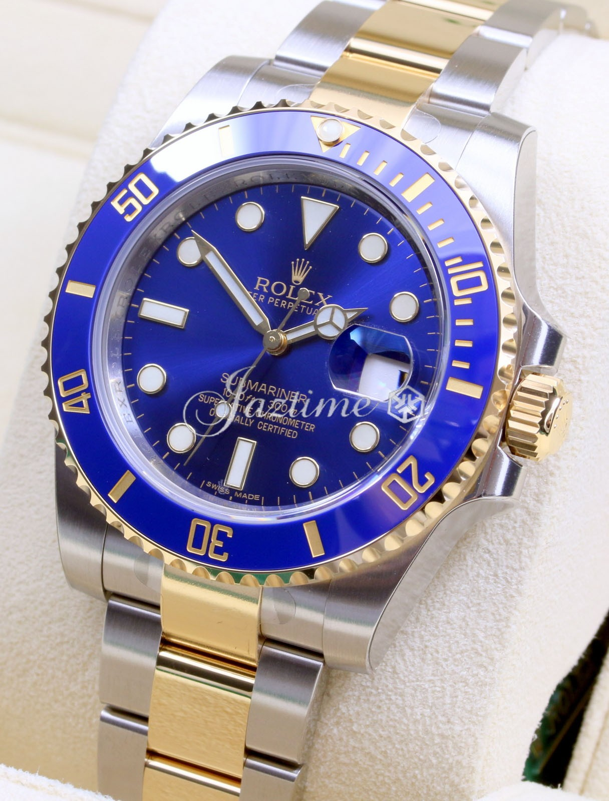 rolex 116613lb two tone submariner date blue for sale. Black Bedroom Furniture Sets. Home Design Ideas