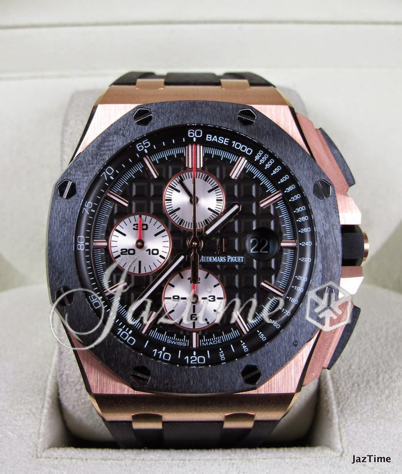 Audemars piguet 26401 ro oo a002 royal oak offshore black for sale for Royal oak offshore ceramic